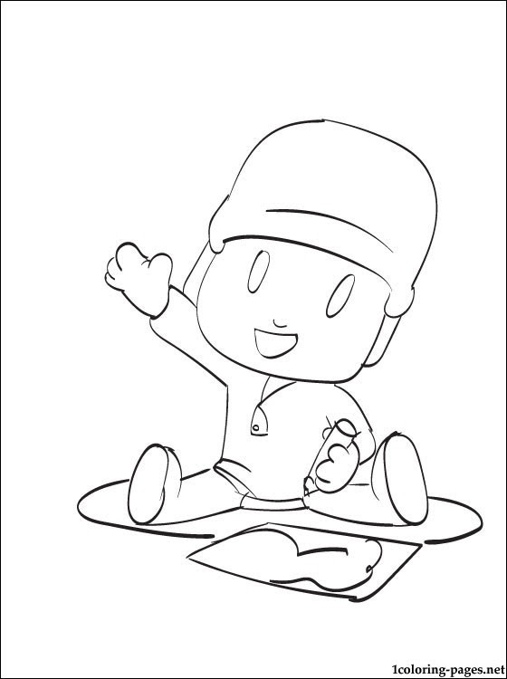 The Pocoyo Draws Coloring Page Coloring Pages