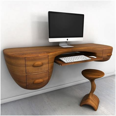wall mounted desk designs  small homes wooden