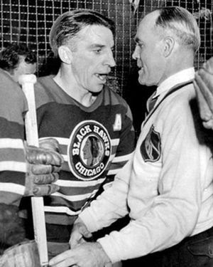 Doug Bentley and King Clancy Referee, Doug Bentley and King Clancy Referee