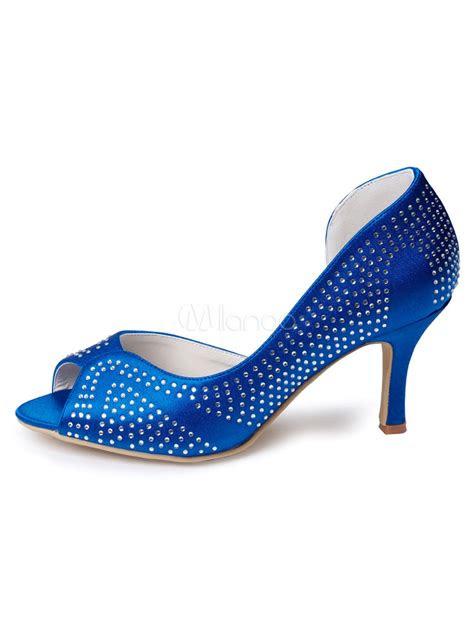 royal blue wedding guest shoes satin mother   bride