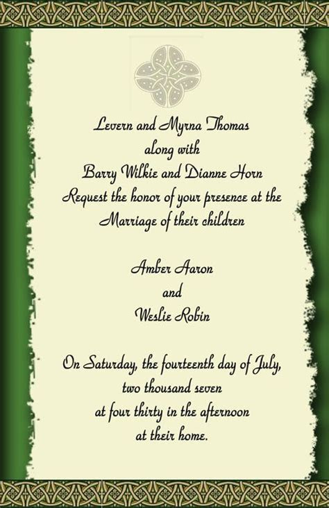 Do It 101 Irish/Celtic Wedding Theme ideas , templates