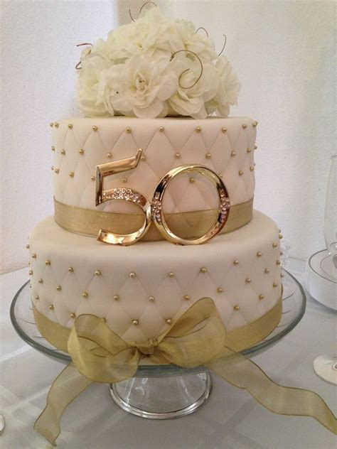 50th Anniversary Cake   50th wedding anniversary   Wedding