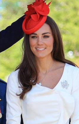 Kate wearing the Canadian colors on Canada Day