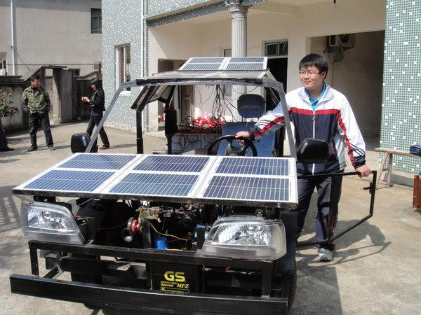 O veículo é equipado com 22 painéis (Foto: Reprodução)