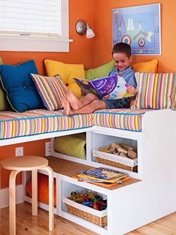 ahorrar espacio en el cuarto de los niños
