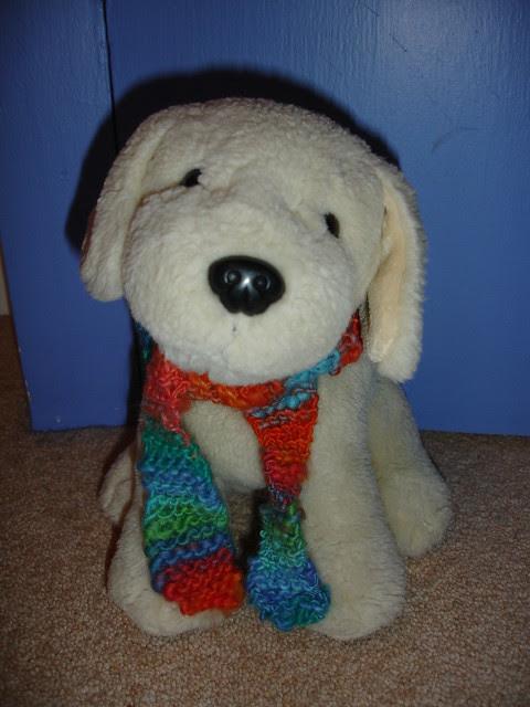 1st handspun little scarf (6)