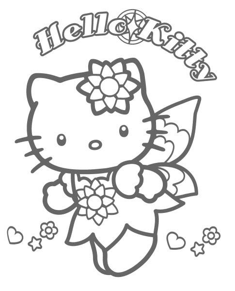 Coloriage A Imprimer Hello Kitty Fee Papillon Gratuit Et Colorier