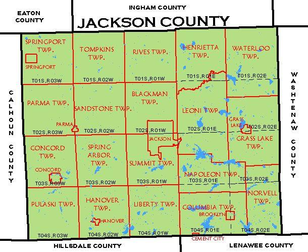 Map Jackson County Mi Bnhspine Com