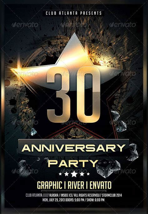 10  Anniversary Party Flyers   Design Trends   Premium PSD