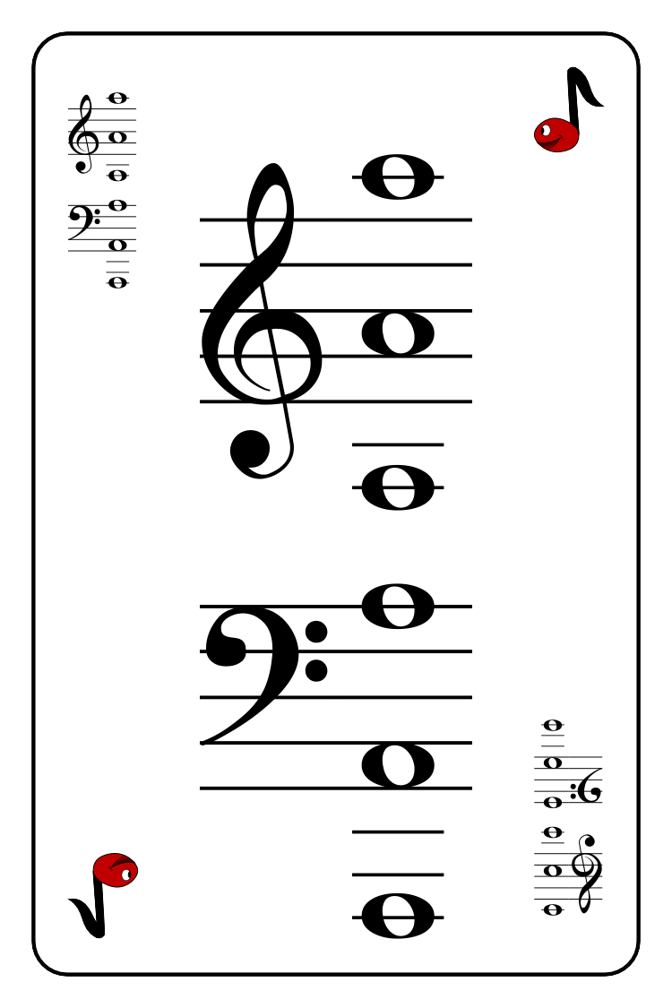 Mr Noteman Name A Note Music Playing Card Game
