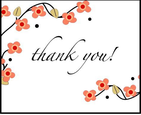 Coral Floral Thank You Card   Mysty and Bella Designs
