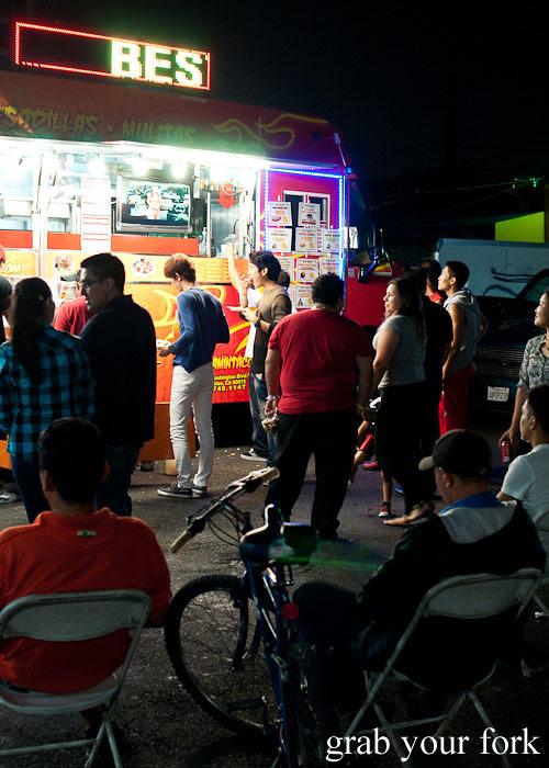 el flamin taco truck in little korea, los angeles