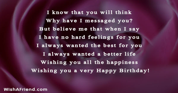 Birthday Messages For Ex Boyfriend