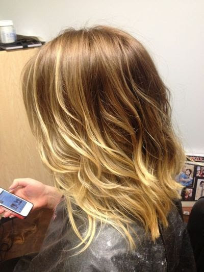 Ombre Blonde Long Bob Haircut Styling Ease Low Maint Hair