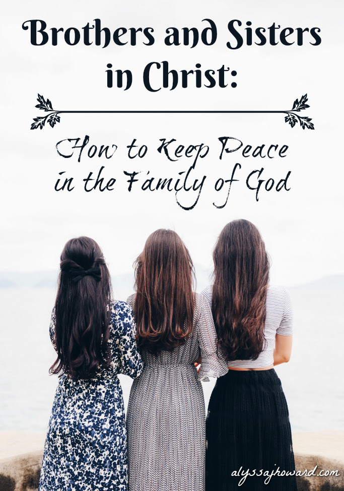 Brothers And Sisters In Christ How To Keep Peace In The Family Of God