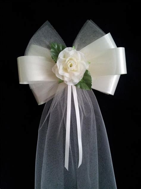 Pew Ends Chairback Rose Fluffy Tulle Wedding Bows choice