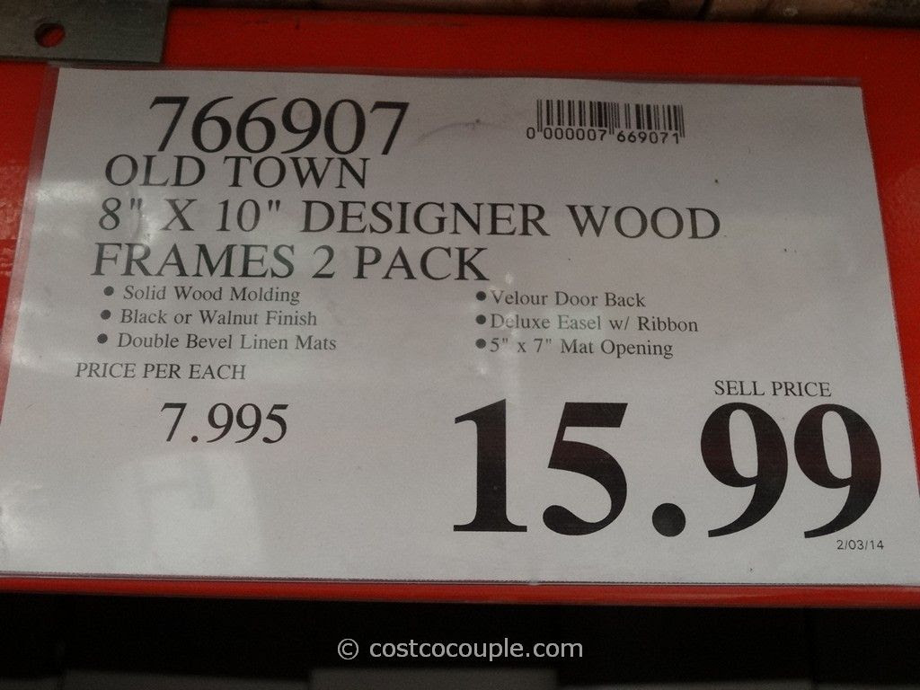 Old Town 8 X 10 Designer Wood Frames