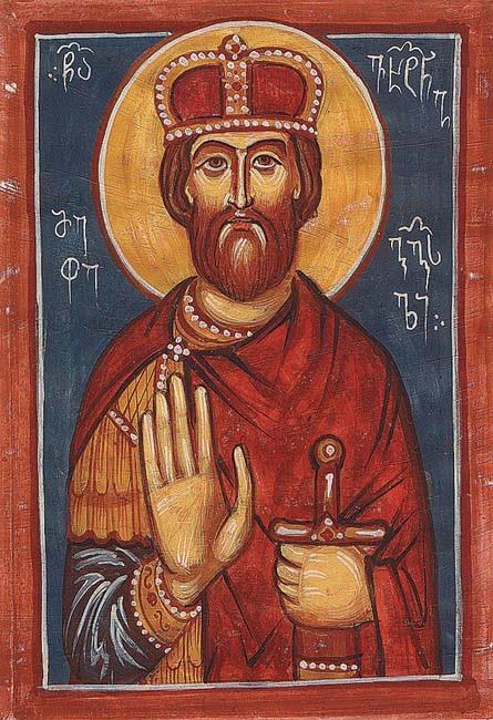 ST. VAKHTANG Gorgasali, King of Georgia