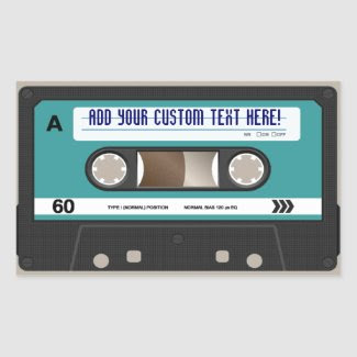 Retro 80s Cassette Tape Personalised Sticker