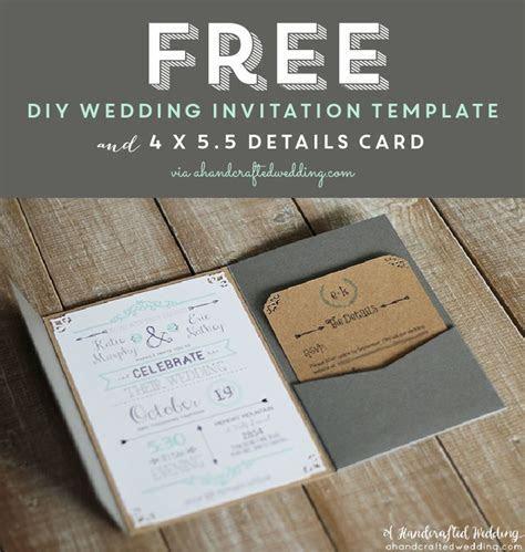 FREE Printable Wedding Invitation Template via
