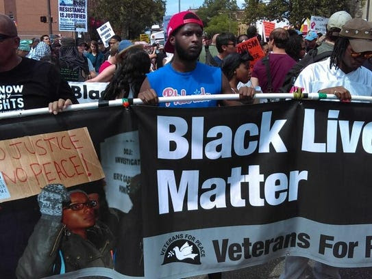 The Black Lives Matter group wanted to raise concerns