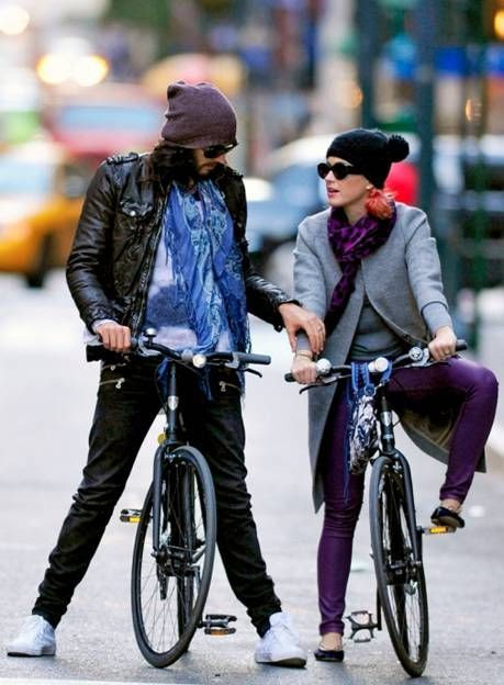 Katy Perry wearing Bleulab Puple Skinny Jeans