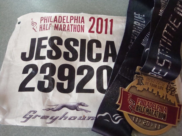 Medal and bib