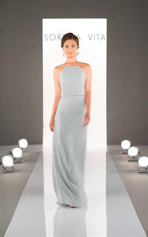 Floor Length Chiffon Bridesmaid Dresses   Sorella Vita