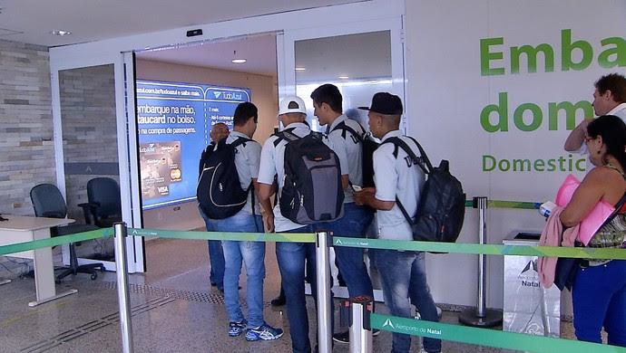 ABC embarque para Curitiba (Foto: Reprodução/Inter TV Cabugi)