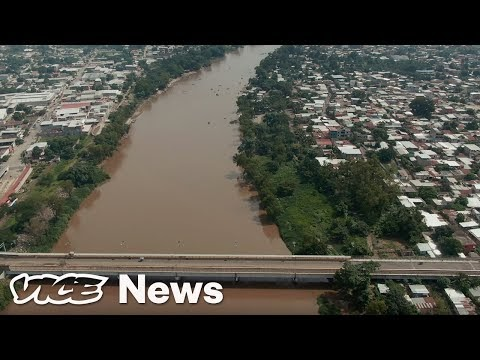 Um passeio de drone pela fronteira México-Guatemala