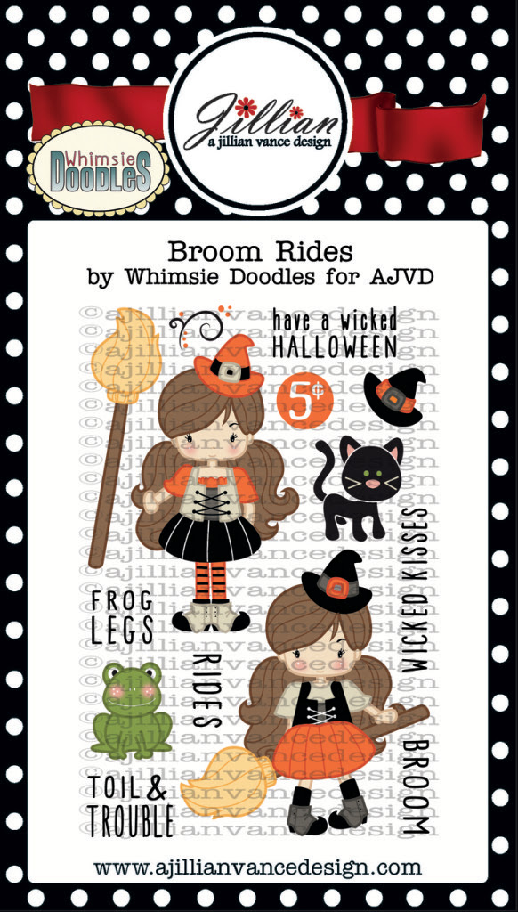 Broom Rides Stamp Set - Jillian Vance