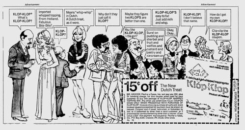 Klop Klop whipped topping Ad -1976