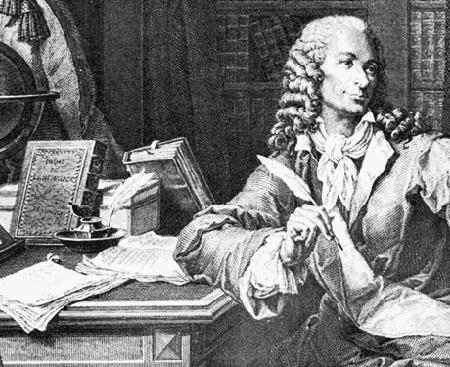 Voltaire d'après une gravure de Baquoy