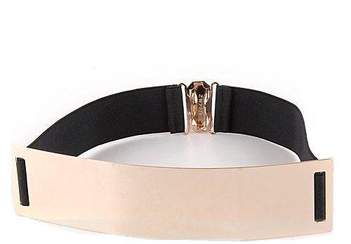 Gold Plate Mirror Elastic Belt