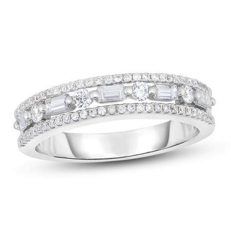 1/2 CT. T.W. Baguette and Round Diamond Alternating Multi