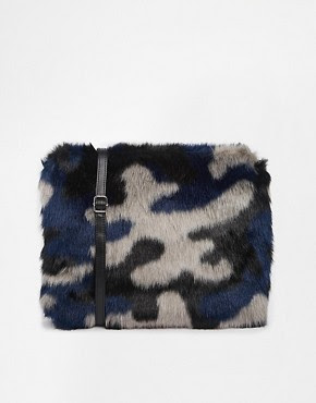 Image 1 of Monki Furia Faux Fur Cross Body Bag