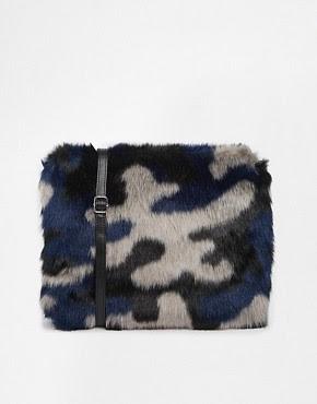 Image 1 ofMonki Furia Faux Fur Cross Body Bag