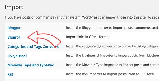Blogroll Importer
