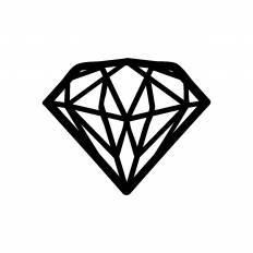 宝石シルエット イラストの無料ダウンロードサイトシルエットac