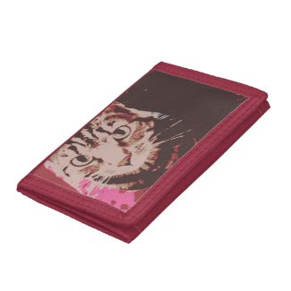 Tabby Cat Poster Art Trifold Wallet