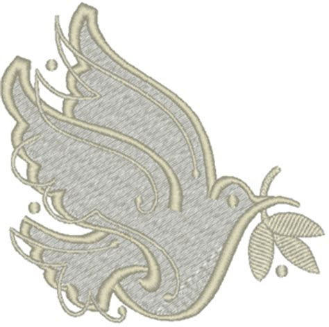 Wedding Dove Embroidery Design