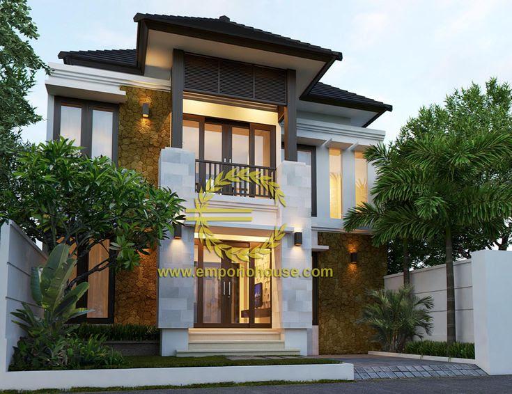 Gambar desain rumah dengan lebar 8 meter info lowongan for 10 meter frontage home designs