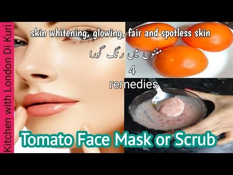 Tomato face mask for skin whitening, glowing, fair and flawless skin