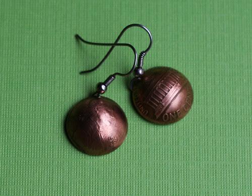 My .02: Penny earrings made by Sudlow