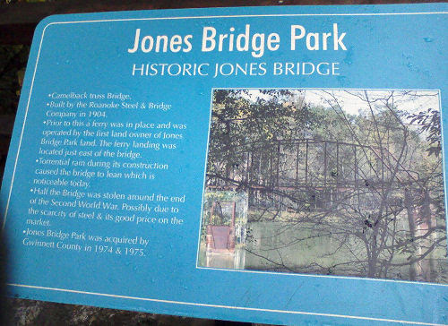Jones Bridge plaque