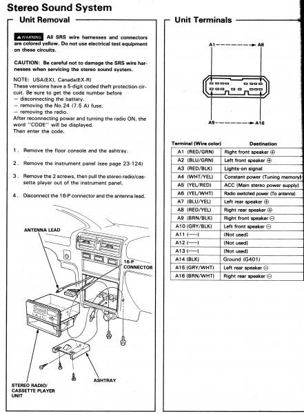 radio wiring diagram for 2000 acura tl - acura tl radio wiring diagram  description honda civic
