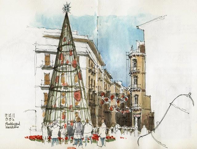 Málaga, christmas tree