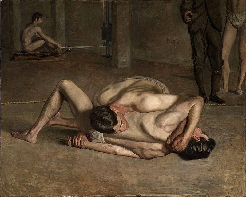 Eakins, Thomas (1844-1916) - Lottatori 3