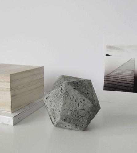 DIY Geometric Concrete Paperweight | Design Sponge