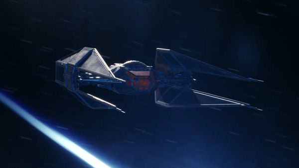 An artist's concept of Kylo Ren's TIE Silencer from STAR WARS: THE LAST JEDI.